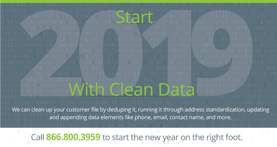 Start 2019 With Clean Data